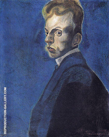 Self Portrait 1907 A Painting By Leon Spilliaert - Reproduction Gallery