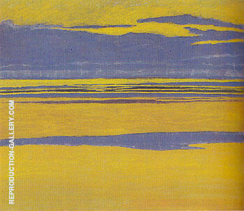 Mauve and Yellow Seascape 1923 By Leon Spilliaert Replica Paintings on Canvas - Reproduction Gallery