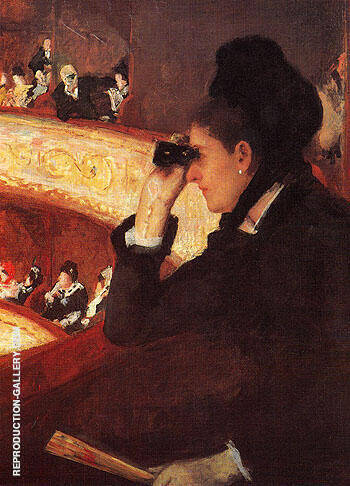 At the Opera 1880 By Mary Cassatt - Oil Paintings & Art Reproductions - Reproduction Gallery