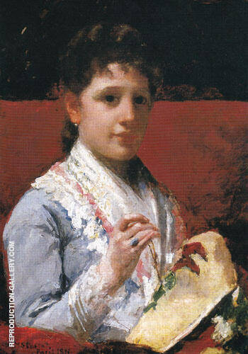 Mary Ellison Embroidering 1877 By Mary Cassatt - Oil Paintings & Art Reproductions - Reproduction Gallery