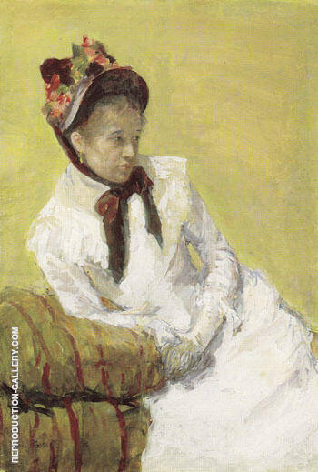 Portrait of the Artist 1878 By Mary Cassatt - Oil Paintings & Art Reproductions - Reproduction Gallery