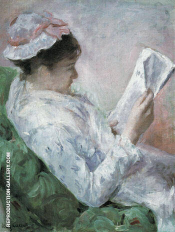 Woman Reading 1878 By Mary Cassatt - Oil Paintings & Art Reproductions - Reproduction Gallery