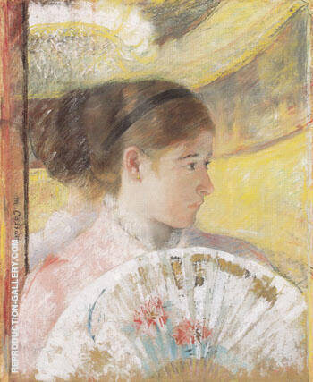 At the Theater 1878 By Mary Cassatt - Oil Paintings & Art Reproductions - Reproduction Gallery
