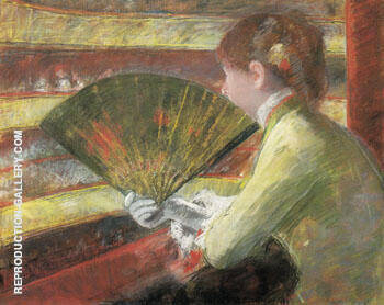 At the Theater 1879 By Mary Cassatt Replica Paintings on Canvas - Reproduction Gallery