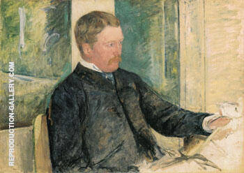 Portrait of Alexander J Cassatt 1880 By Mary Cassatt - Oil Paintings & Art Reproductions - Reproduction Gallery