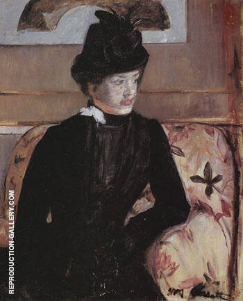 Portrait of Madame J 1879 By Mary Cassatt - Oil Paintings & Art Reproductions - Reproduction Gallery