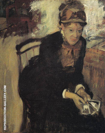 Mary Cassatt Seated Holding Cards c1880 By Mary Cassatt - Oil Paintings & Art Reproductions - Reproduction Gallery