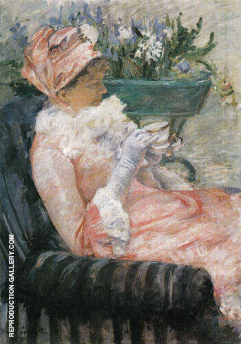 Tea 1880 By Mary Cassatt - Oil Paintings & Art Reproductions - Reproduction Gallery