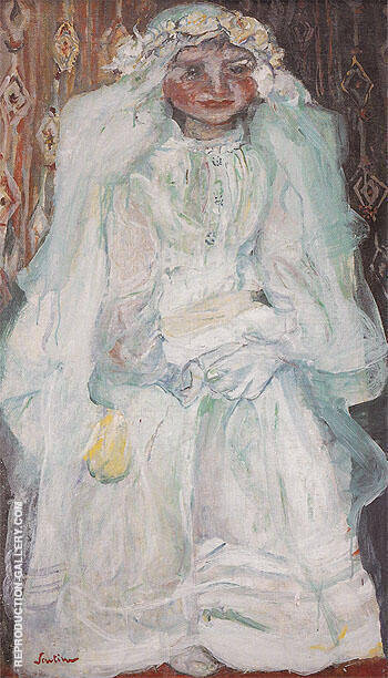 The Communicant c1924 By Chaim Soutine Replica Paintings on Canvas - Reproduction Gallery