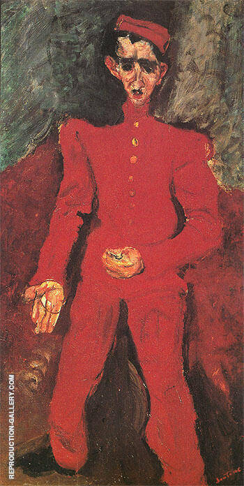 Page Boy at Maxims c1925 By Chaim Soutine - Oil Paintings & Art Reproductions - Reproduction Gallery