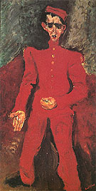 Page Boy at Maxims c1925 By Chaim Soutine