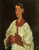 The Choir Boy c1927 By Chaim Soutine