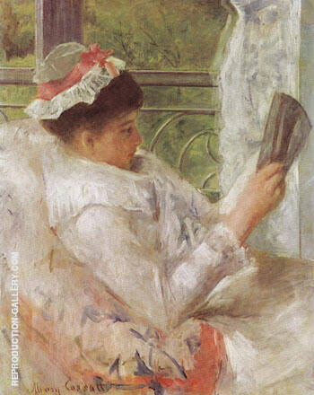 Woman Reading Lydia Cassatt 1878 By Mary Cassatt Replica Paintings on Canvas - Reproduction Gallery