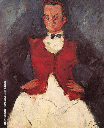 Hotel Manager c1927 By Chaim Soutine