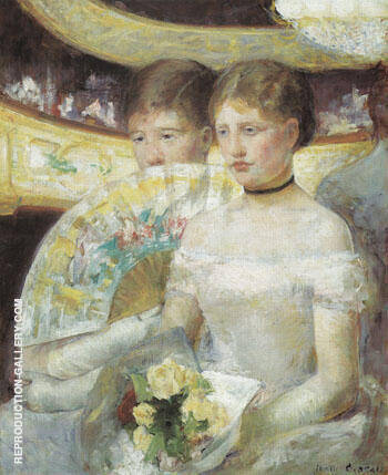 Woman in a Loge 1881 B By Mary Cassatt - Oil Paintings & Art Reproductions - Reproduction Gallery