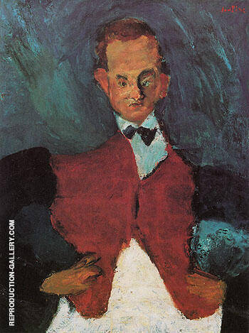 Room Service Waiter c1927 By Chaim Soutine - Oil Paintings & Art Reproductions - Reproduction Gallery