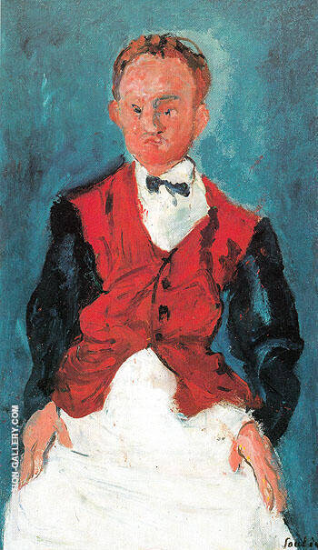 Hotel Boy c1927 By Chaim Soutine