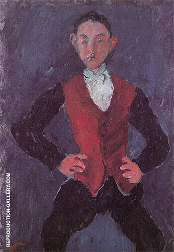 Portrait of a Boy c1927 By Chaim Soutine