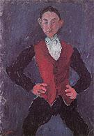 Portrait of a Boy c1927 By Chaim Soutine