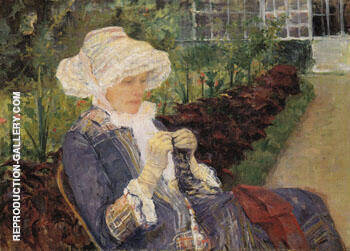The Garden 1880 By Mary Cassatt Replica Paintings on Canvas - Reproduction Gallery