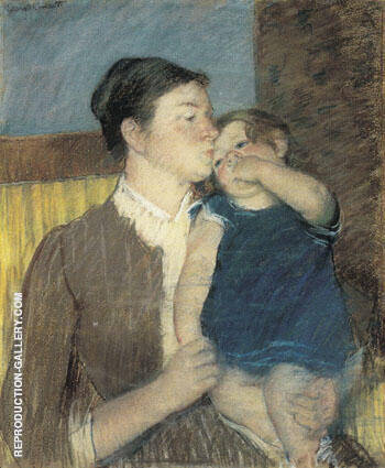 Young Mother 1888 By Mary Cassatt - Oil Paintings & Art Reproductions - Reproduction Gallery