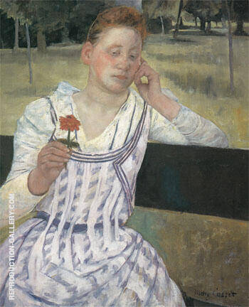 Revery 1891 By Mary Cassatt - Oil Paintings & Art Reproductions - Reproduction Gallery