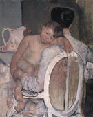 Mother Holding a Child in Her Arms c1890 By Mary Cassatt