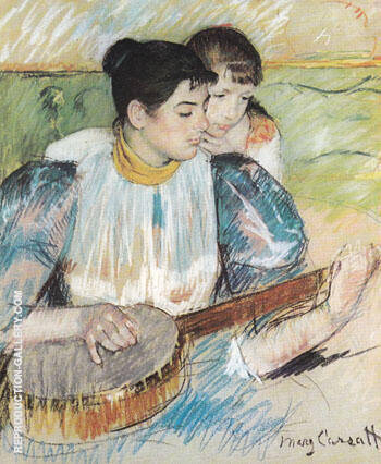 Reproduction of The Banjo Lesson 1894 by Mary Cassatt | Oil Painting Replica On CanvasReproduction Gallery