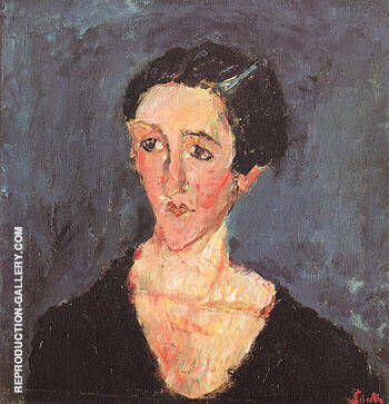 Portrait of Madame Castaing c1929 By Chaim Soutine - Oil Paintings & Art Reproductions - Reproduction Gallery