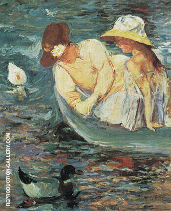 Reproduction of Summertime c1894 B by Mary Cassatt | Oil Painting Replica On CanvasReproduction Gallery