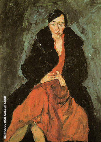 Portrait of Madeleine Castaing c1929 By Chaim Soutine