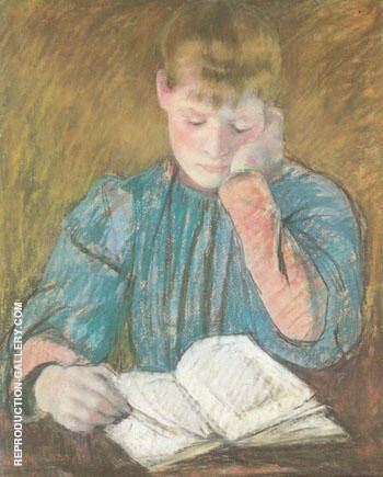 The Pensive Reader c1894 By Mary Cassatt - Oil Paintings & Art Reproductions - Reproduction Gallery