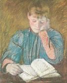 The Pensive Reader c1894 By Mary Cassatt