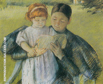 Nurse Reading to a Little Girl 1895 By Mary Cassatt
