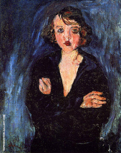 Woman with Arms Folded c1929 By Chaim Soutine Replica Paintings on Canvas - Reproduction Gallery