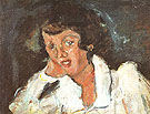 Girl Leaning on Her Elbow c1934 By Chaim Soutine