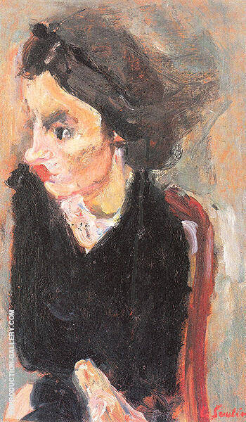 Woman in Profile c1937 By Chaim Soutine - Oil Paintings & Art Reproductions - Reproduction Gallery