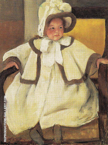 Ellen Mary in a White Coat c1896 By Mary Cassatt