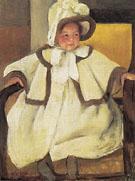 Ellen Mary in a White Coat c1896 By Mary Cassatt