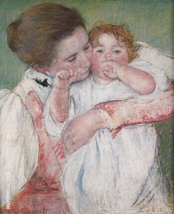 Little Ann Sucking her Finger Embraced by her Mother 1897 By Mary Cassatt