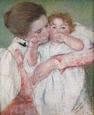Little Ann Sucking her Finger Embraced by her Mother 1897 By Mary Cassatt