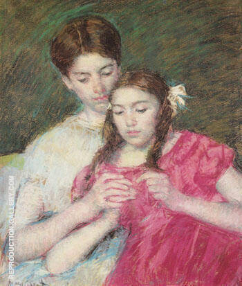 The Crochet Lesson 1913 By Mary Cassatt - Oil Paintings & Art Reproductions - Reproduction Gallery