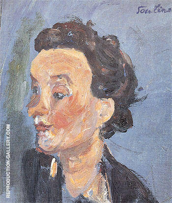 English Girl in Blue c1937 By Chaim Soutine - Oil Paintings & Art Reproductions - Reproduction Gallery
