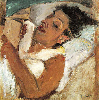 Woman Reading c1937 By Chaim Soutine