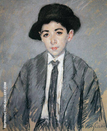 Portrait of Charles Dikran Kelekian Aged 12 1910 By Mary Cassatt