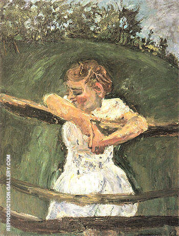 Young Girl at Fence c1940 By Chaim Soutine Replica Paintings on Canvas - Reproduction Gallery