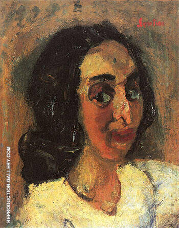 Portrait of a Woman c1940 Painting By Chaim Soutine - Reproduction Gallery