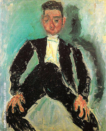 The Groom c1924 By Chaim Soutine - Oil Paintings & Art Reproductions - Reproduction Gallery