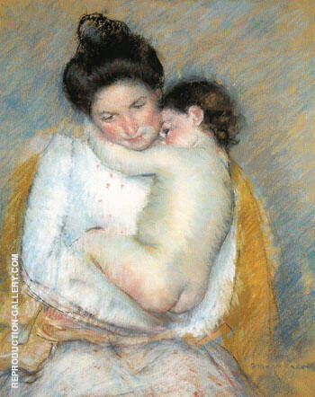 Reproduction of Mother and Child 1900 A by Mary Cassatt | Oil Painting Replica On CanvasReproduction Gallery