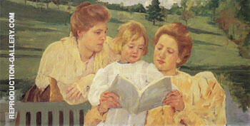 The Garden Lecture 1898 By Mary Cassatt - Oil Paintings & Art Reproductions - Reproduction Gallery